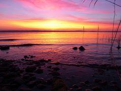 Sonnenuntergang am Bodensee bearbeitet :-)