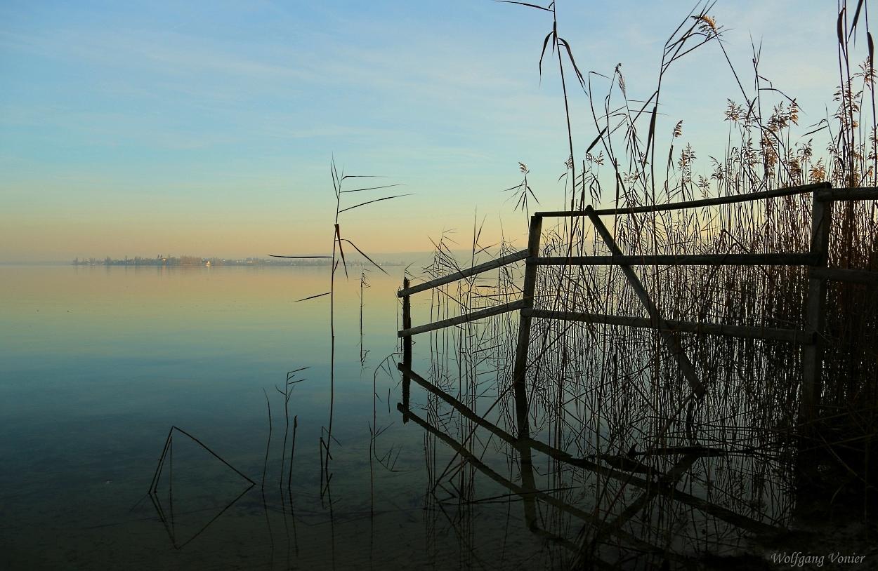 Sonnenuntergang am Bodensee/Untersee