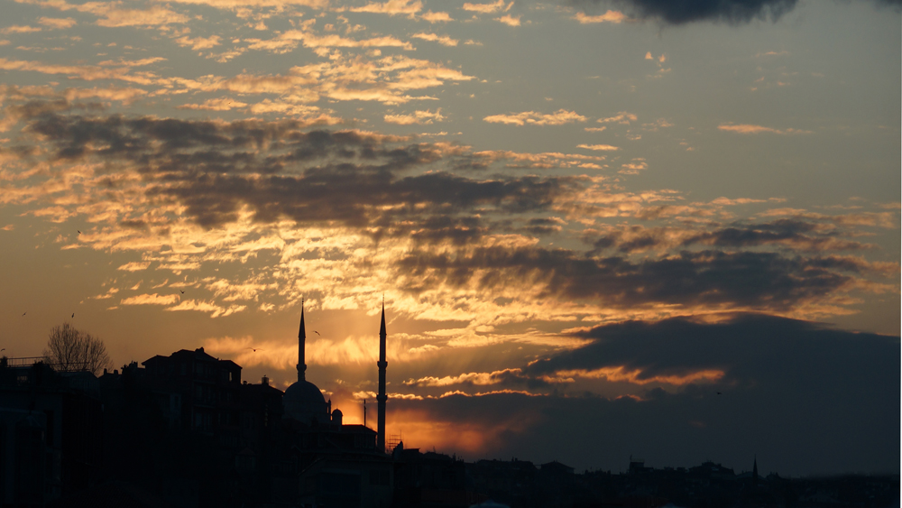 Sonnenuntergang am Bosporus