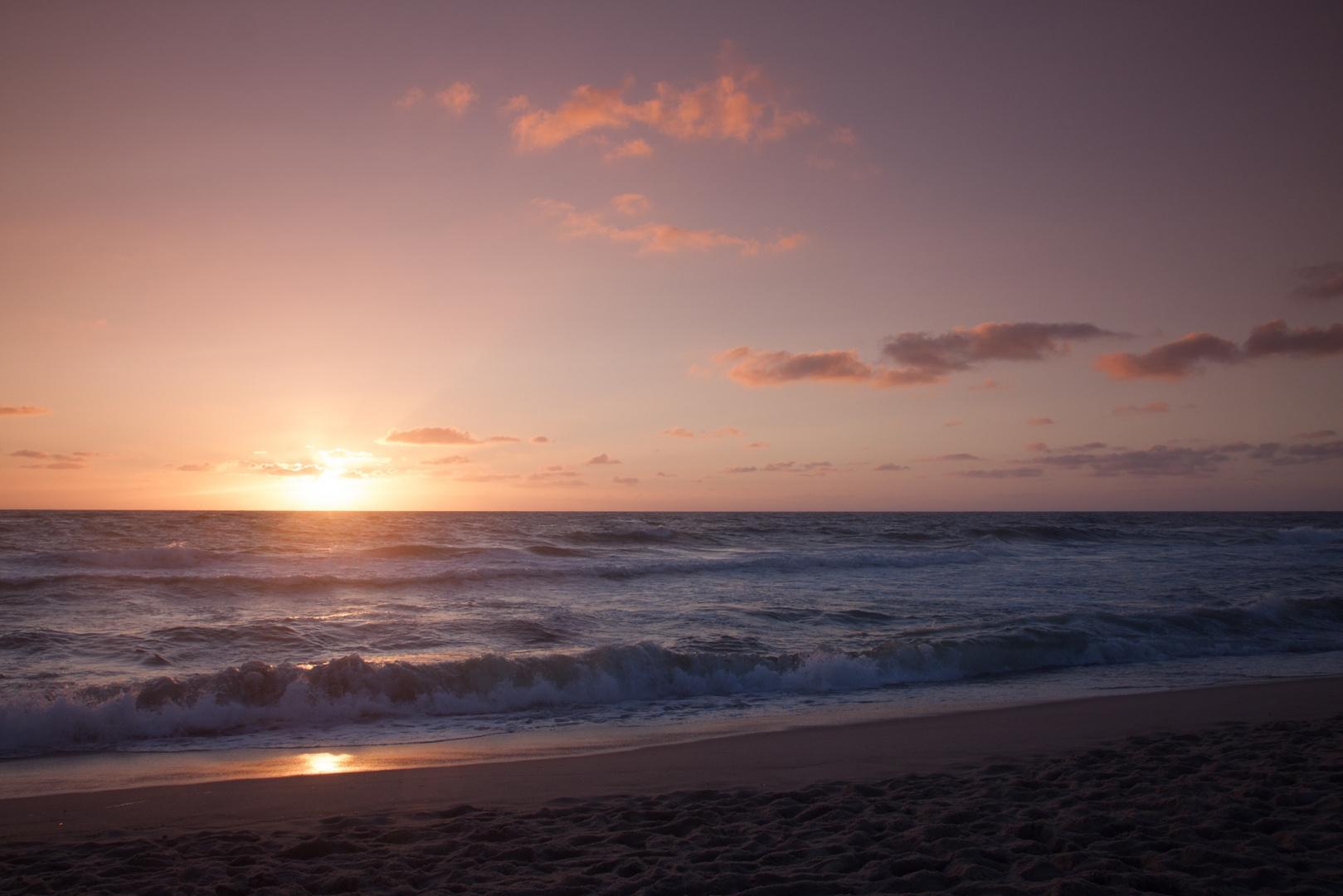 Sonnenuntergang am Brandenburger Strand auf Sylt