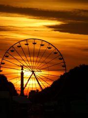 Sonnenuntergang am Branderburger Tor