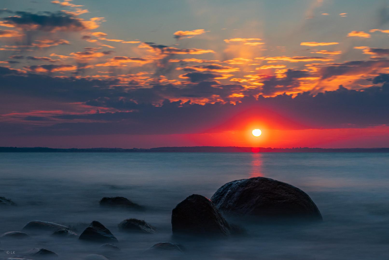 Sonnenuntergang am Brodtener Ufer