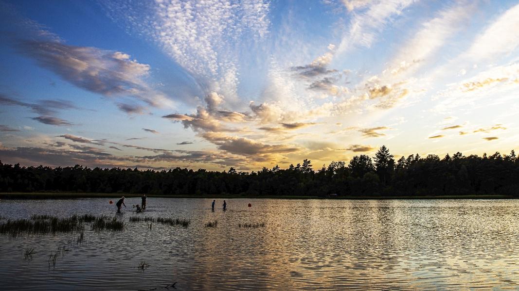 Sonnenuntergang am Bullensee