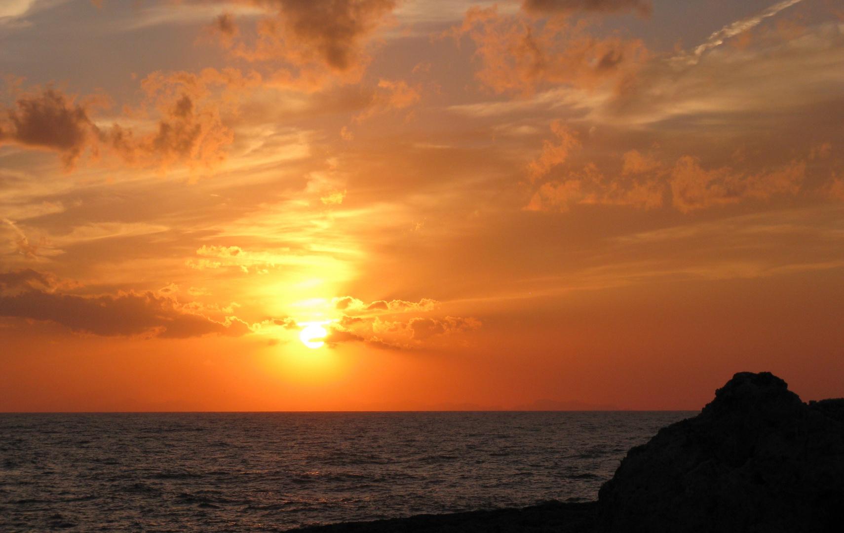 Sonnenuntergang am Cap Artrutx Menorca