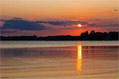 Sonnenuntergang am Chiemsee
