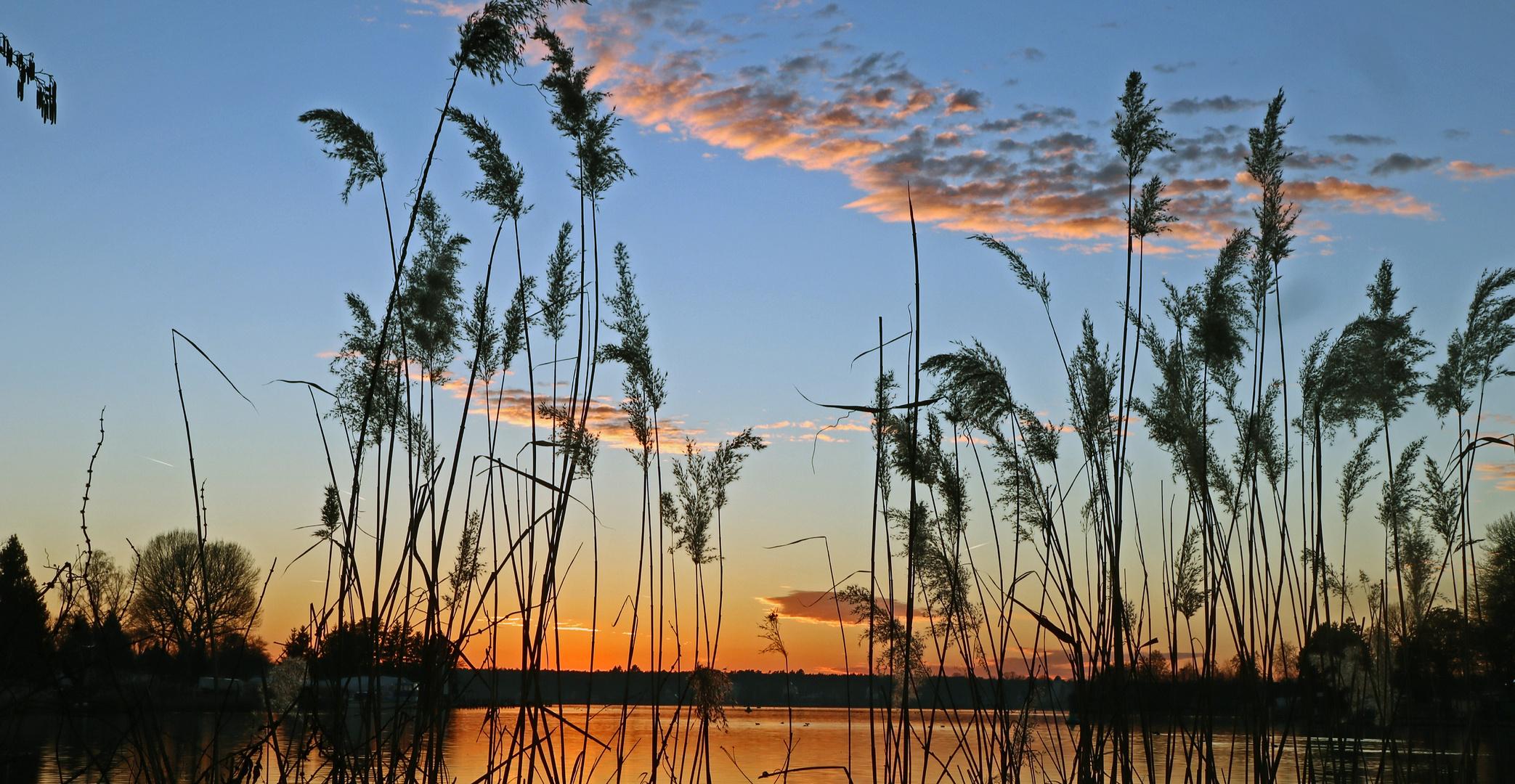 Sonnenuntergang am Dämeritzsee
