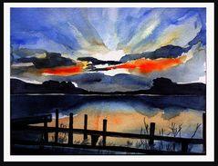 Sonnenuntergang am Dämmeritzsee