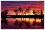 Sonnenuntergang am Entang du stock