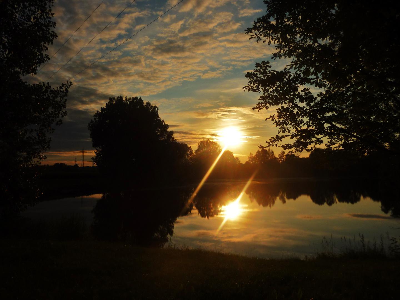 Sonnenuntergang am Erlensee