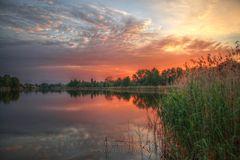 Sonnenuntergang am Falkenhagener See