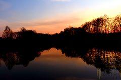 Sonnenuntergang am Finowkanal in Finowfurt