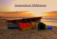 Sonnenuntergang am Fischerboot