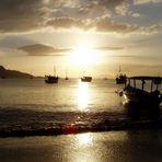Sonnenuntergang am Fischerhafen