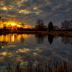 Sonnenuntergang am Fischteich
