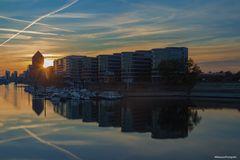 Sonnenuntergang am Five Boats