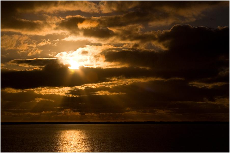 Sonnenuntergang am Fjord III