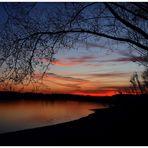 Sonnenuntergang am Förmitzsee