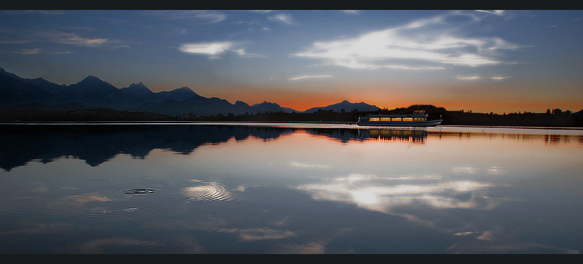 Sonnenuntergang am Forrgensee