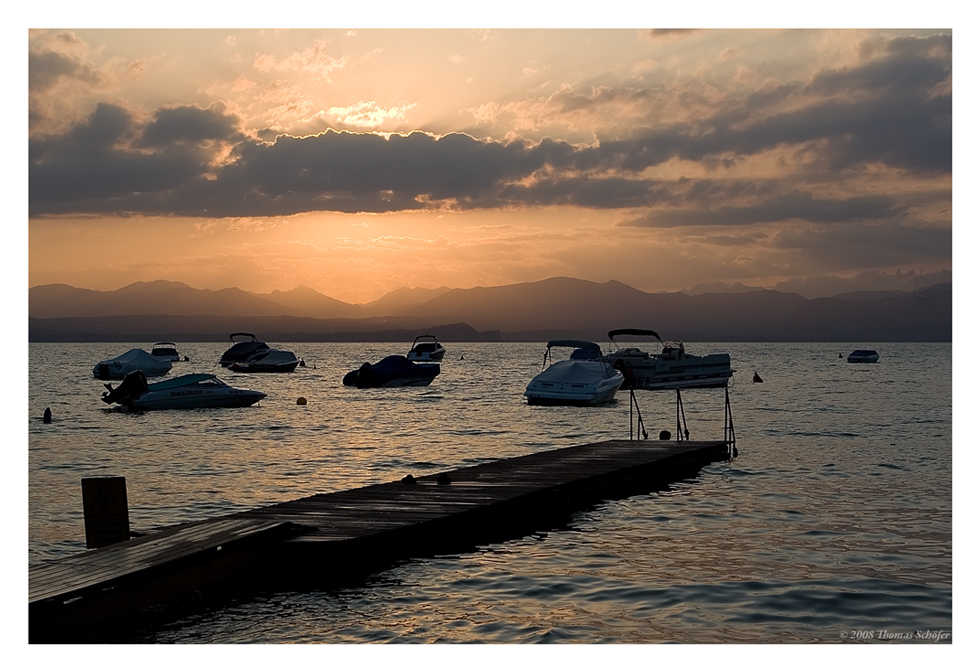 Sonnenuntergang am Gardasee 2