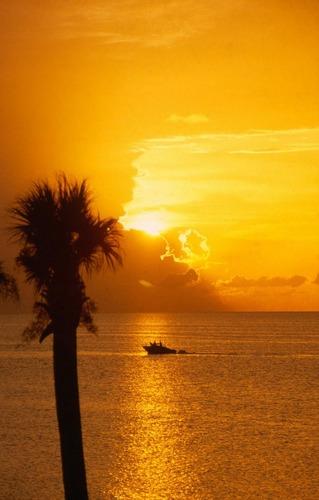 Sonnenuntergang am Golf von Mexico