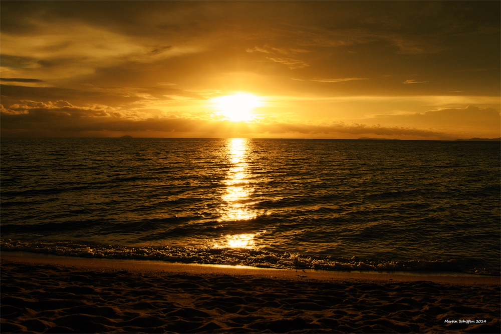 Sonnenuntergang am Golf von Thailand