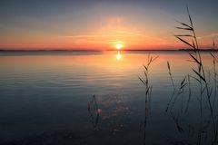 Sonnenuntergang am Großen Jasmunder Bodden...