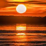 Sonnenuntergang am grossen Müggelsee