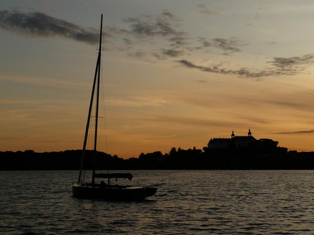 Sonnenuntergang am Großen Plöner See