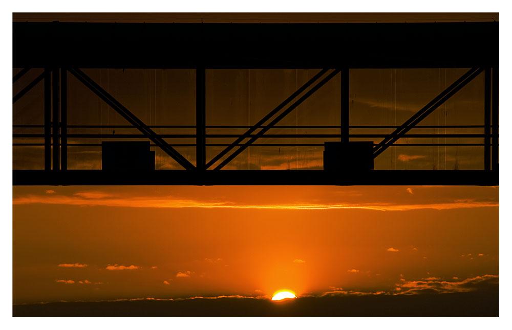 Sonnenuntergang am Hafen von Hirtshals