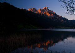Sonnenuntergang am Haldensee