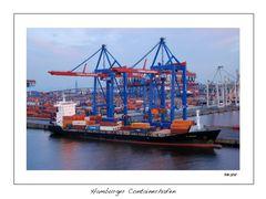 Sonnenuntergang am Hamburger Containerhafen 1