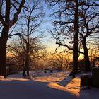 Sonnenuntergang am Heidefelsen