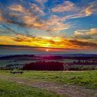 Sonnenuntergang am Hoherodskopf HDR