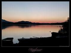 Sonnenuntergang am Hopfensee - Allgäu Urlaub 2015