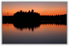 Sonnenuntergang am Horstmarer See - Aufnahme 3