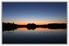 Sonnenuntergang am Horstmarer See in Lünen - Aufnahme 6