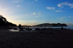 Sonnenuntergang am Hot-Water-Beach