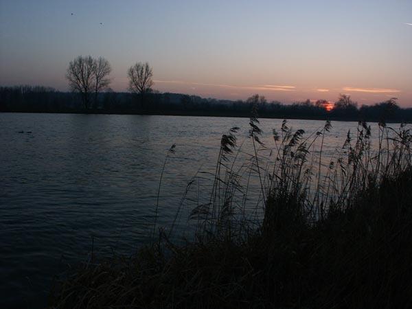 Sonnenuntergang am Inn 1
