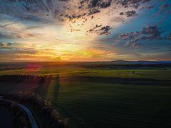 Sonnenuntergang am Kaliberg zu Bokeloh