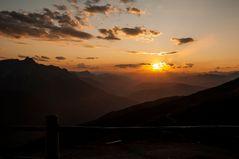 Sonnenuntergang am Karnischen Höhenweg (III)