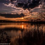 Sonnenuntergang am Kiessee