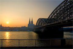 Sonnenuntergang am Kölner Dom