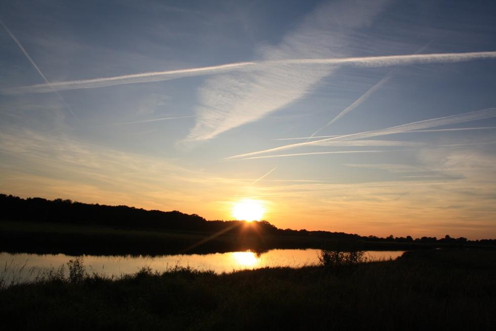 Sonnenuntergang am Laascher See