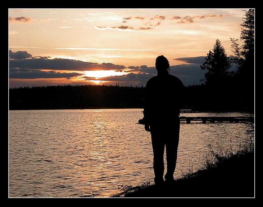 Sonnenuntergang am Lac la Hache / BC