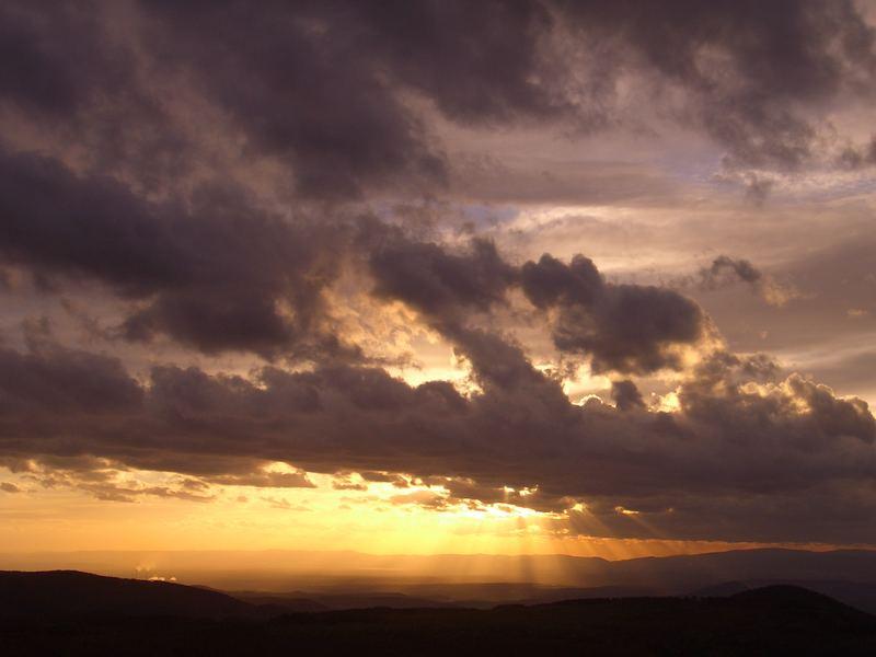 Sonnenuntergang am Milleschauer