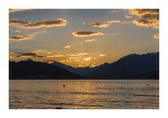 Sonnenuntergang am Millstädter See