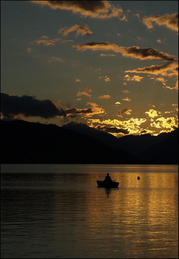 Sonnenuntergang am Milstätter See