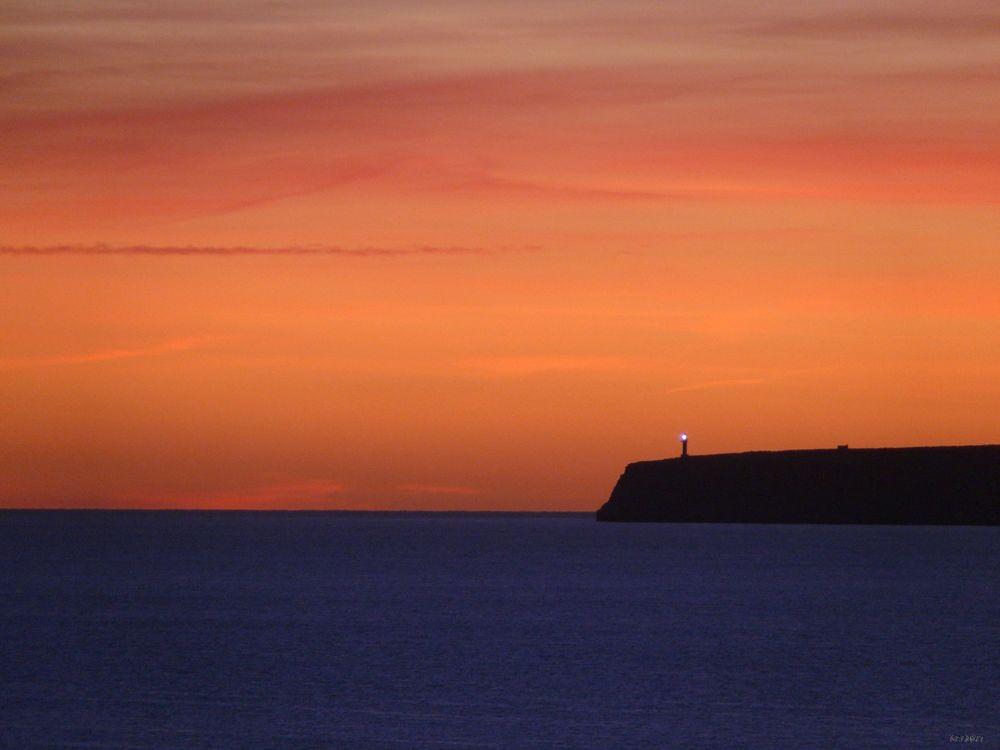 Sonnenuntergang am Mitjorn