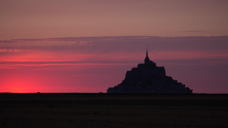 Sonnenuntergang am Moint-Saint-Michel