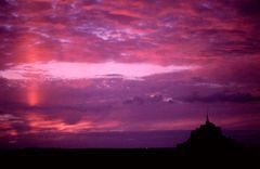 Sonnenuntergang am Mont St. Michel